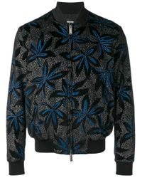 DSquared² | Multicolor Velvet Floral Bomber Jacket for Men | Lyst