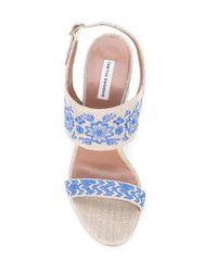 Tabitha Simmons Blue Senna Festival Sandals