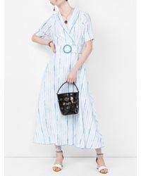 Gül Hürgel Blue Belted Shirt Dress
