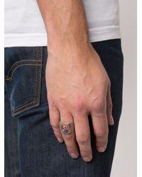 Saint Laurent - Metallic Eighties Hawaii Signet Ring for Men - Lyst