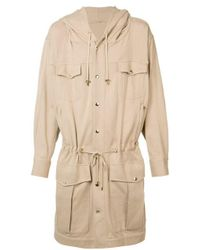 Balmain | Natural Long Drawstring Coat for Men | Lyst