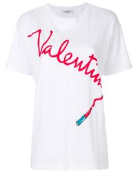 Valentino Multicolor Logo Print T-shirt