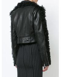 Alexander Wang Black Cropped Textured Jacket