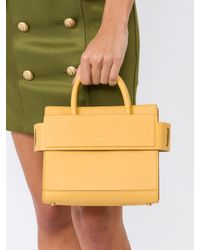 Givenchy Yellow Horizon Mini Leather Satchel Bag