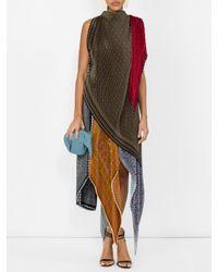 Loewe Multicolor Anagram Silk Pleated Skirt