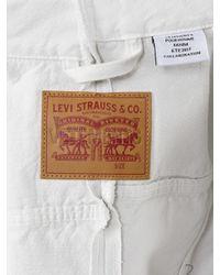 Vetements - White X Levis Reworked Cropped Denim Jacket - Lyst