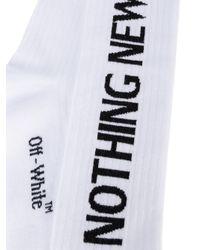 Off-White c/o Virgil Abloh Blue Nothing New Glitter Socks for men