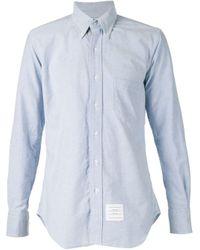 Thom Browne Blue Pocket Shirt for men