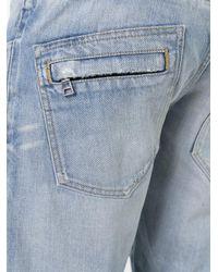 Balmain Multicolor Slim Biker Jeans for men