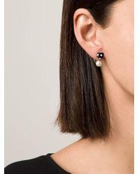 Nektar De Stagni Black Pearl & Onyx Earrings