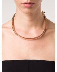 Miansai Metallic Modern Screw Necklace