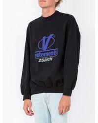Vetements - Multicolor Zurich Print Sweatshirt for Men - Lyst