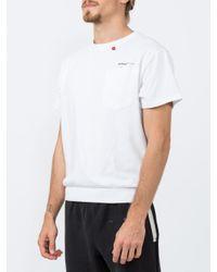 Off-White c/o Virgil Abloh White Ribbed Hem T-shirt for men