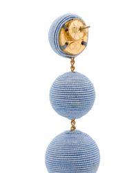 Rebecca de Ravenel Blue Bead Drop Earrings