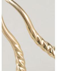 Marc Alary Metallic Gazelle Horns Ring