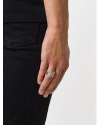 Maison Margiela   Metallic Periodic Symbol Ring for Men   Lyst