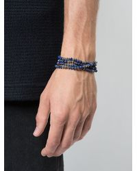 M. Cohen - Blue Beaded Necklace-bracelet for Men - Lyst