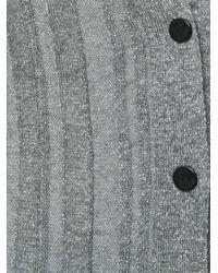 Proenza Schouler - Gray Metallic Button-down Cardigan - Lyst