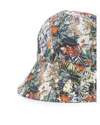 Maison Michel Multicolor 'jul' Floral Bucket Hat
