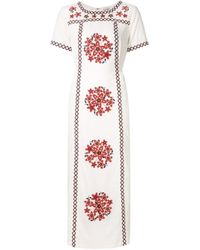SUNO | Multicolor Embroidered Long Tunic Dress | Lyst