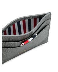Thom Browne - Gray Diagonal Intarsia Striped Cardholder - Lyst