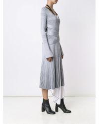 Proenza Schouler Blue Layered Ribbed Knit Dress