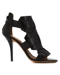 Givenchy | Black Woven Sandal Booties | Lyst