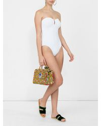 Eres - White Strapless Swimsuit - Lyst