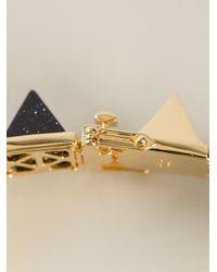 Eddie Borgo Blue Gemstone Pyramid Bracelet