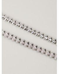 Eddie Borgo - Metallic Pav' Cone Necklace - Lyst