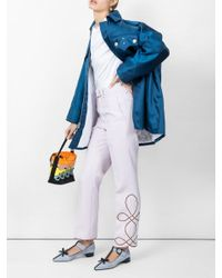 CALVIN KLEIN 205W39NYC Blue Oversized Pocket Coat