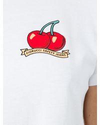 Fiorucci Multicolor Cherries Vintage Crop T-shirt