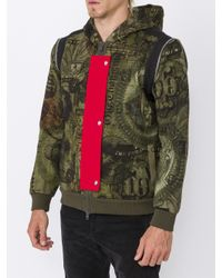 Givenchy Green Dollar Print Hoodie for men