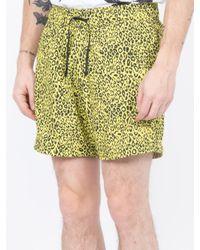 679920de902a Amiri Leopard Shorts in Yellow for Men - Lyst
