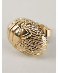 Aurelie Bidermann Metallic Scarab Earrings