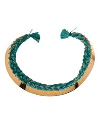 Aurelie Bidermann - Metallic Copacabana Braided Necklace - Lyst