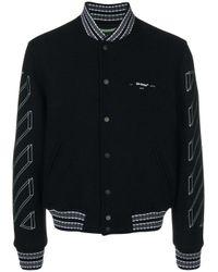 Off-White c/o Virgil Abloh Black Diagonal And Arrows Varsity Jacket for men