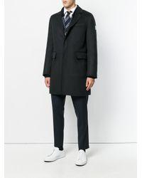Moncler Gamme Bleu Black Chester Coat With Padded Jacket Insert for men
