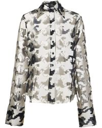 Marques'Almeida Multicolor Oversized Fil Coup' Houndstooth Pattern Shirt