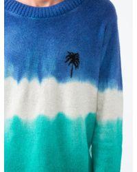 The Elder Statesman Blue Palm Tree Jumper for men