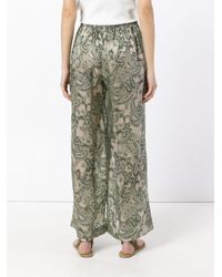 Acne Multicolor 'tennessee' Paisley Printed Trousers