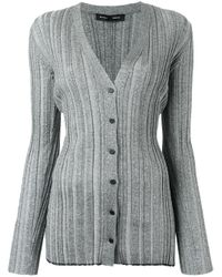 Proenza Schouler - Gray Metallic Button-down Cardigan - Lyst