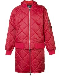 Hood By Air Multicolor 'against' Quilted Bomber Jacket for men