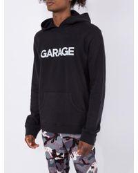 The Elder Statesman Garage X Black Logo Hoodie for men