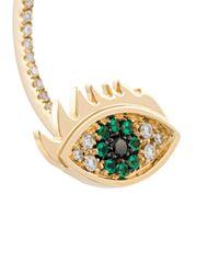 Delfina Delettrez - Metallic 'eyes On Me Piercing' Emerald And Diamond Earring - Lyst