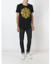 Balmain Multicolor 'blazon' T-shirt for men