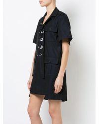 Sacai Black Cotton Twill Dress