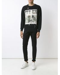 Enfants Riches Deprimes Black X Cy Twombly Loose Threads Printed Sweatshirt for men