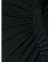 Alexandre Vauthier Black Draped Jersey Dress