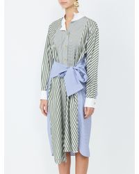 Loewe Blue Asymmetric Shirtdress
